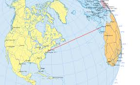 Map Projection Definition Why Are Great Circles The Shortest Flight Path Gis Geography