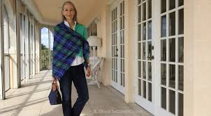 preppy for women over 50 video two ways to tie a blanket scarf with j crew jeans lilly