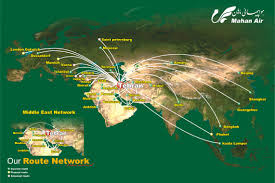 Singapore Airlines Route Map by Mahan Air World Airline News