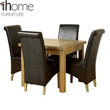 Extended Dining Table Sets 1home Solid Oak Extending Dining Table Set Room Furniture 90cm To