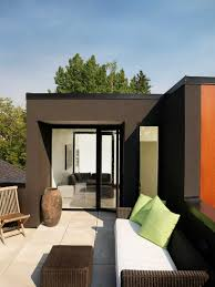 awesome flat roof garden ideas patio modern with flat roof painted