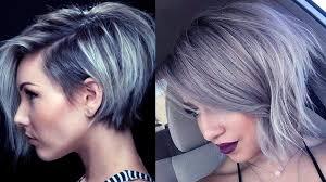 latest hairstyles latest short grey hairstyles short grey hair pics youtube