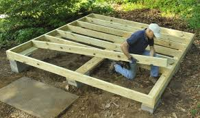 how to frame a floor how to build a better backyard storage shed