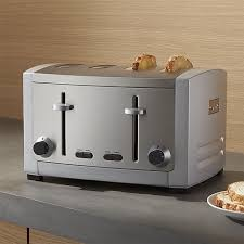Calphalon 4 Slot Stainless Steel Toaster All Clad 4 Slice Toaster Crate And Barrel