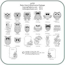 Wood Burning Patterns Free Download by Retro Owls U0026 Mushrooms Pattern Package By Lora S Irish Classic