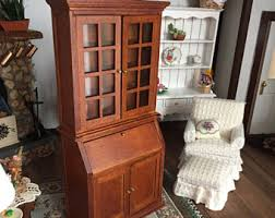 Book Cabinet With Doors by Miniature Bookcase Etsy