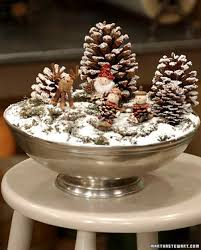 table decorations with pine cones apartments holiday centerpieces martha stewart christmas
