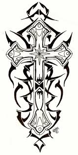 8 tribal cross tattoo designs and stencils