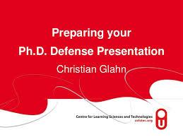 prepare your ph d defense presentation