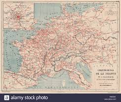 France Germany Map by France U0026 Germany Railways Western Central Europe Chemins De Fer