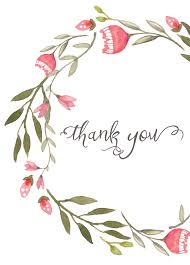 thank you card pink wreath everyday gratitude