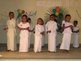 sri lankan national dress tangalle pre school children perform year end concert real