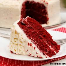 cooks joy red velvet cake with cream cheese frosting