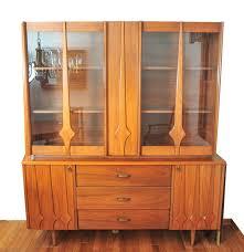 Heywood Wakefield China Cabinet Mid Century Modern Teak Wood China Cabinet Ebth