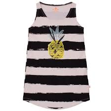 noe zoe noé zoë tank dress black stripes xl w pineapple 4yrs