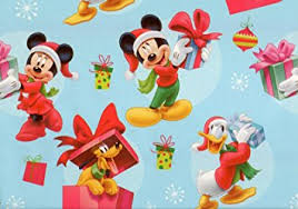 mickey wrapping paper disney s mickey mouse pluto and donald duck christmas