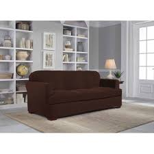 Slipcover Furniture Living Room Serta Stretch Grid Slipcover Sofa 2 Piece T Cushion Walmart Com