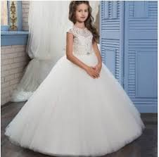 communion dresses on sale real image ivory white lace flower dresses gown floor