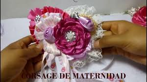 corsage de baby shower corsage para baby shower de niña distintivo