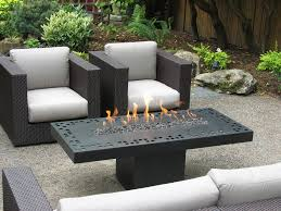 Rectangle Fire Pit Table Furniture Romantic Natural Gas Fire Pit Table Bring Warm Nuance