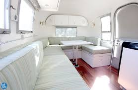 Vintage Airstream Interior by 1967 Airstream Globetrotter Alice Renovated By Hofarc