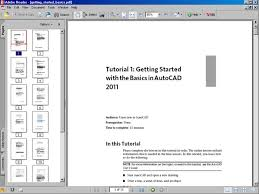 autocad tutorial getting started getting started basics autocad 2011 pdf ebook file software