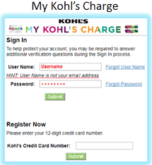 Kohls Floor Ls Sign In To My Kohl S Charge To Make A Payment