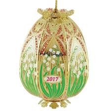 brass ornaments painted tree ornaments