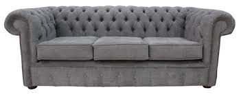 Fabric Chesterfield Sofa Designersofas4u Buy Pewter Fabric Chesterfield Sofa Uk