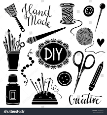 arts crafts sewing painting hand drawn stock vector 446998510
