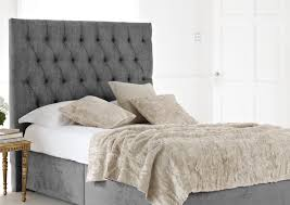 stylish king size upholstered headboard and footboard of