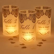 wedding table numbers damask wedding table number luminaries by suzy q designs