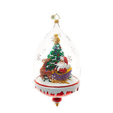 clear christmas ornaments christopher radko ornaments radko santa claus clear sledding