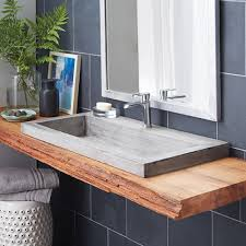 trough 3619 nativestone rectangular bathroom sink native trails