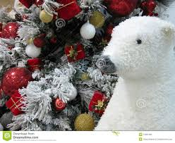 Teddy Bear Christmas Tree Decorations by Polar Bear And Christmas Tree Royalty Free Stock Image Image