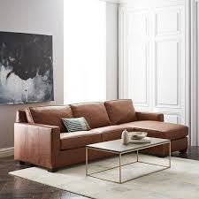 Down Sectional Sofa Henry 2 Piece Pull Down Leather Full Sleeper Sectional Storage