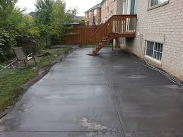 step by step illustration of concrete installation in milton