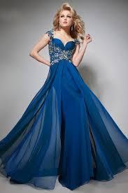 royal blue pageant dresses cap slevves beaded royal blue long