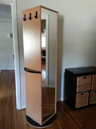 rotating storage cabinet with mirror ikea kajak rotating swivel cabinet wardrobe has mirror from rotating