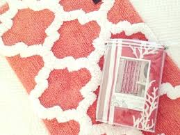 Coral Color Bathroom Rugs Bathroom Set Bathroom Set Coral Color Bathroom Decor