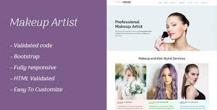 Makeup Artists Websites Makeup Artist Templates From Themeforest