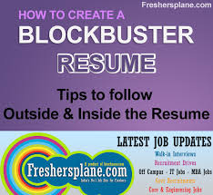 Sample Resume For Mba Finance Freshers by Resume Writing Tips For Freshers Experience Sample Tips Best