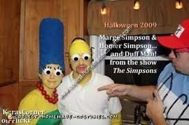 Marge Simpson Halloween Costume Coolest Homemade Marge Homer Simpson Couples Costume