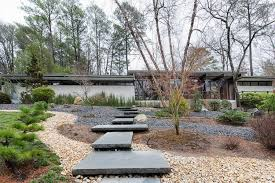 frank lloyd wright inspired home with lush landscaping beautifully landscaped house inspired by frank lloyd wright mid