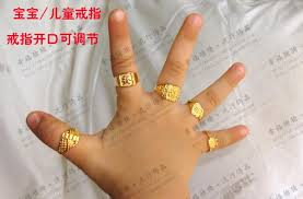 baby finger rings images 24k gold plated gold ring baby child accessories men women in jpg