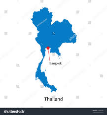 Bangkok Map Detailed Vector Map Thailand Capital City Stock Vector 213882808
