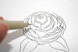 easy rose flower drawings in pencil urldircom