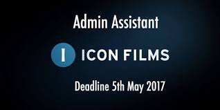 Recruiting Assistant Icon Films Is Recruiting U2013 Admin Assistant Deadline 5th May 2017