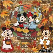 happy thanksgiving with disney mickey and minnie