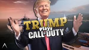 trump plays call of duty youtube